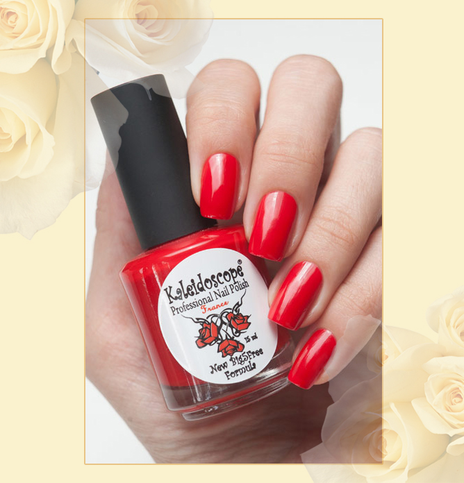 EL Corazon - Kaleidoscope Красотека №Кr-07 Разбитое сердце, красный лак для ногтей